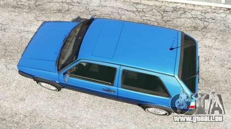 GTA 5 Volkswagen Golf Mk2 GTI Rückansicht