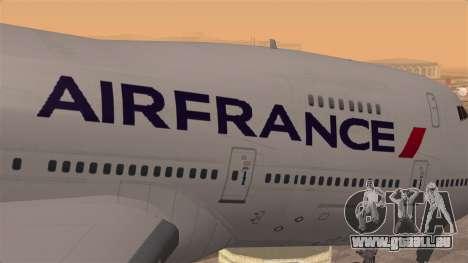 Boeing 747 Air France für GTA San Andreas Rückansicht