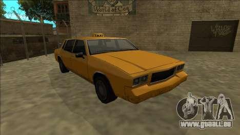 Tahoma Taxi für GTA San Andreas Rückansicht