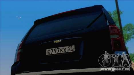 Chevrolet Suburban FSB pour GTA San Andreas vue de droite