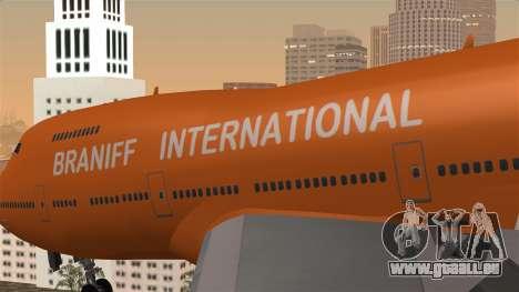 Boeing 747 Braniff für GTA San Andreas Rückansicht