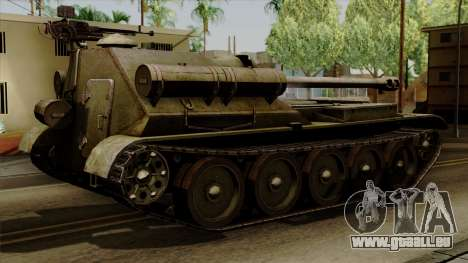 SU-101 122mm from World of Tanks für GTA San Andreas linke Ansicht