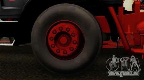 Mercedes-Benz Truck 4x6 pour GTA San Andreas sur la vue arrière gauche