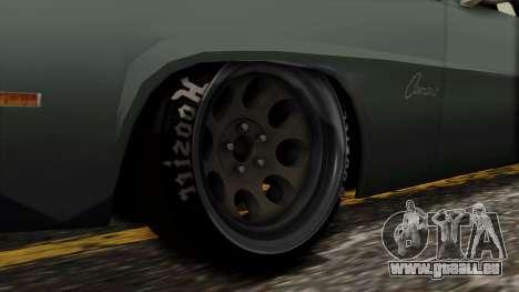 Chevrolet Camaro Drag Street für GTA San Andreas zurück linke Ansicht