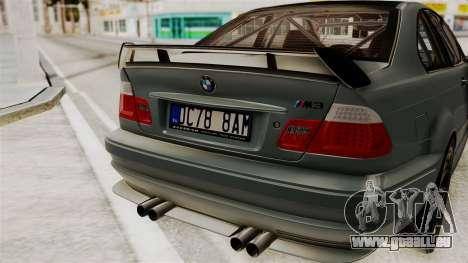 BMW M3 E46 GTR 2005 Stock für GTA San Andreas Rückansicht