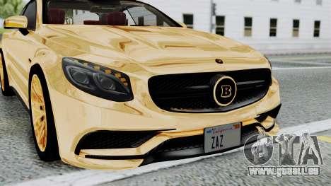 Brabus 850 Gold pour GTA San Andreas vue de côté