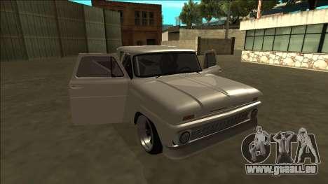 Chevrolet C10 Drift pour GTA San Andreas vue de dessus