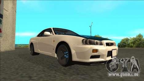 Nissan Skyline R34 Drift pour GTA San Andreas vue de droite