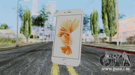 iPhone 6S Rose Gold pour GTA San Andreas troisième écran