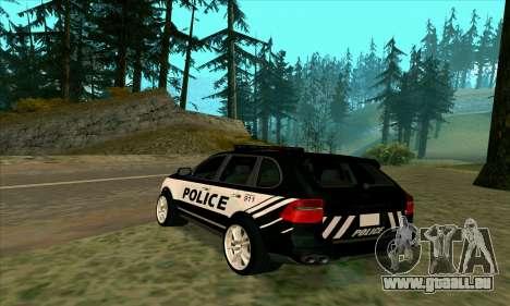Porsche Cayenne Turbo S Federal Police für GTA San Andreas linke Ansicht