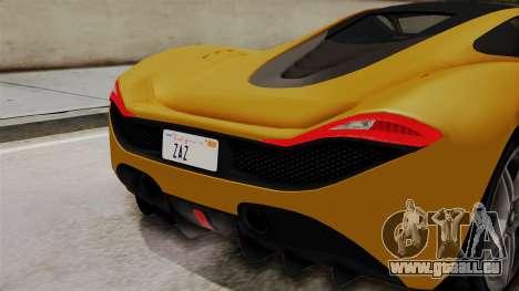 GTA 5 Progen T20 IVF für GTA San Andreas Rückansicht