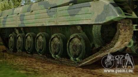 CoD 4 MW 2 BMP-2 Woodland pour GTA San Andreas sur la vue arrière gauche