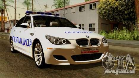 BMW M5 E60 Macedonian Police für GTA San Andreas