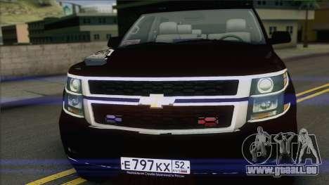 Chevrolet Suburban FSB für GTA San Andreas zurück linke Ansicht