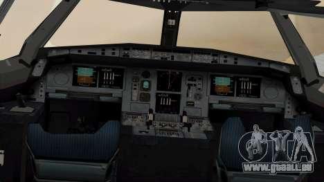 Airbus A380-861 Air India für GTA San Andreas Rückansicht