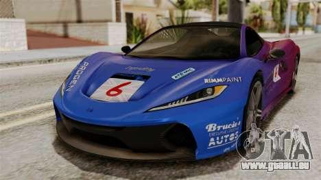 GTA 5 Progen T20 IVF für GTA San Andreas obere Ansicht