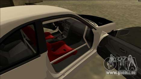 Nissan Skyline R33 Drift für GTA San Andreas zurück linke Ansicht