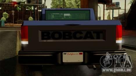 Bobcat from Vice City Stories IVF pour GTA San Andreas vue de dessous
