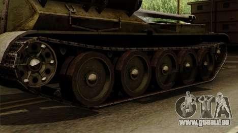 SU-101 122mm from World of Tanks für GTA San Andreas zurück linke Ansicht