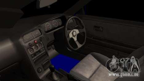Nissan Skyline R33 Widebody Itasha pour GTA San Andreas vue de droite