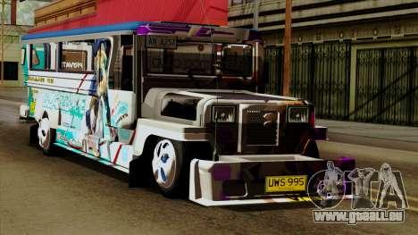 Auto Pormado - Gabshop Custom Jeepney pour GTA San Andreas