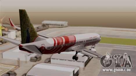 Boeing 737-800 Air India Express für GTA San Andreas linke Ansicht