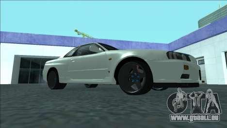 Nissan Skyline R34 Drift pour GTA San Andreas vue arrière