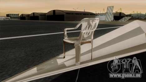 Papierflieger für GTA San Andreas zurück linke Ansicht