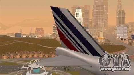 Boeing 747 Air France pour GTA San Andreas sur la vue arrière gauche