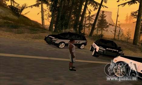 Porsche Cayenne Turbo S Federal Police für GTA San Andreas zurück linke Ansicht