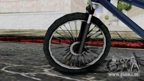 Mountain Bike from Bully pour GTA San Andreas sur la vue arrière gauche