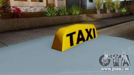 Taxi Solair pour GTA San Andreas sur la vue arrière gauche