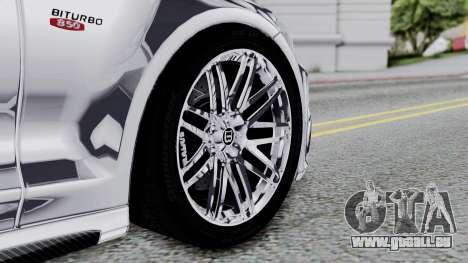 Brabus 850 Chrome pour GTA San Andreas sur la vue arrière gauche