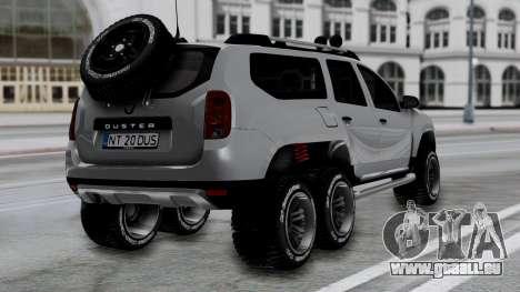 Dacia Duster Terranger 6x6 pour GTA San Andreas laissé vue