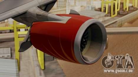 Airbus A380-861 Air India für GTA San Andreas rechten Ansicht