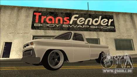 Chevrolet C10 Drift pour GTA San Andreas laissé vue