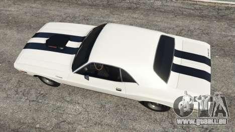 GTA 5 Dodge Challenger RT 440 1970 v1.0 vue arrière