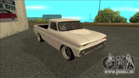 Chevrolet C10 Drift pour GTA San Andreas sur la vue arrière gauche