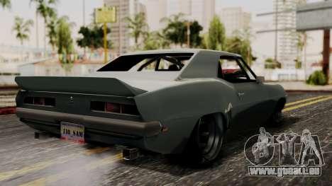 Chevrolet Camaro Drag Street pour GTA San Andreas laissé vue