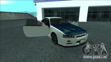 Nissan Skyline R34 Drift pour GTA San Andreas moteur