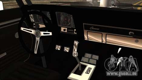 Chevrolet Camaro Drag Street für GTA San Andreas Rückansicht