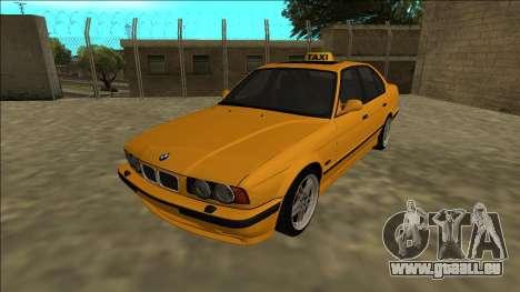 BMW M5 E34 Taxi für GTA San Andreas zurück linke Ansicht