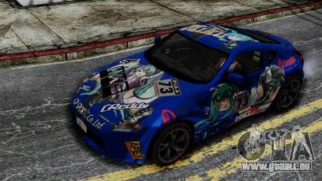 Nissan 370Z Tunable Miku Paintjob pour GTA San Andreas vue de droite