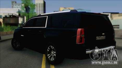 Chevrolet Suburban FSB pour GTA San Andreas laissé vue