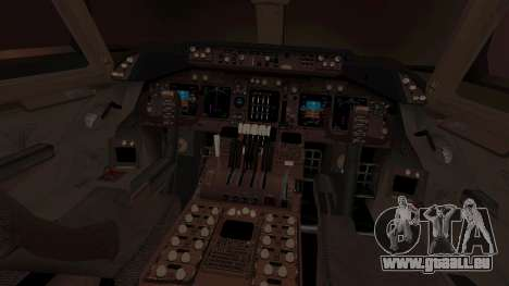 Boeing 747 Air France für GTA San Andreas Innenansicht