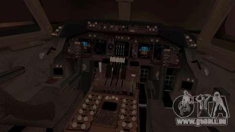 Boeing 747 Air France pour GTA San Andreas vue intérieure