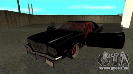 Ford Gran Torino Drift pour GTA San Andreas vue arrière