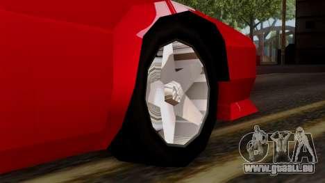 Cheetah from Vice City Stories pour GTA San Andreas sur la vue arrière gauche