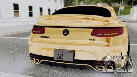 Brabus 850 Gold pour GTA San Andreas salon