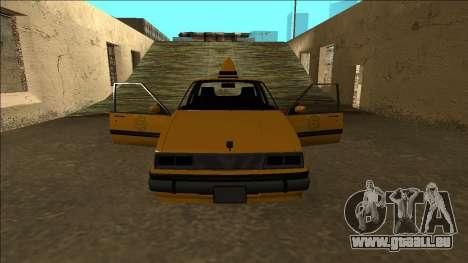Willard Taxi für GTA San Andreas Innen